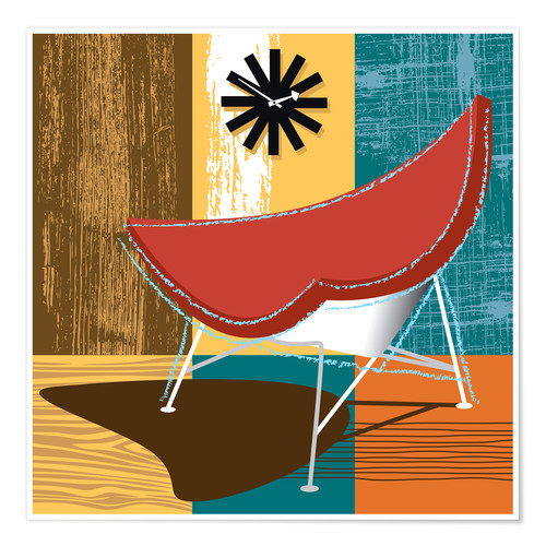 Premium poster coconut chair
