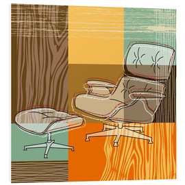 Foam board print  Lounge Chair V - Thomas Marutschke