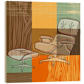 Wood print  lounge chair - Thomas Marutschke