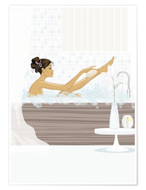Premium poster  shower flower babe - Mike Wall