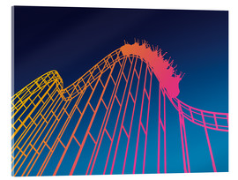 Acrylic print  rollercoaster - David Fairfield