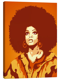 Canvas print  70s Orange Soul Mama - JASMIN!