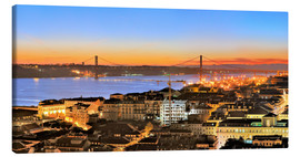 Canvas print  Panorama  of Lisbon Portugal - Fine Art Images