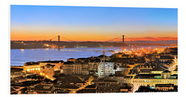 Foam board print  Panorama of Lisbon Portugal - FineArt Panorama