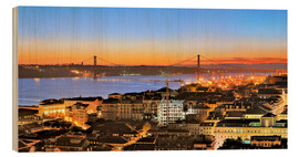Wood  Panorama  of Lisbon Portugal - Fine Art Images
