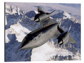 Aluminium print  SR-71B Blackbird in Flight - Stocktrek Images