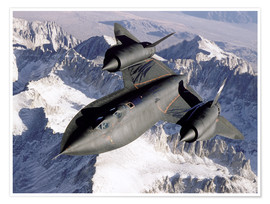 Premium poster SR-71B Blackbird in Flight