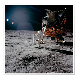 Premium poster  Apollo 11 Moon Walk - Stocktrek Images