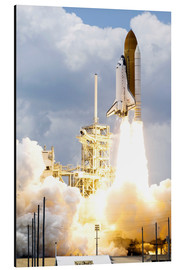 Aluminium print  Space shuttle Atlantis launches