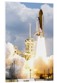 Foam board print  Space shuttle Atlantis launches - Stocktrek Images