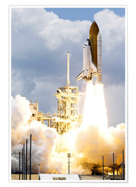 Premium poster Space shuttle Atlantis launches