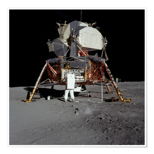 Premium poster An Apollo 11 astronaut before the Lunar Module