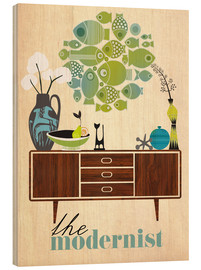 Wood print  The modernist - Elisandra Sevenstar
