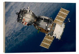 Wood print  The Soyuz TMA-7 spacecraft - Stocktrek Images