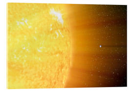 Acrylic print  The relative sizes of the Sun and the Earth - Stocktrek Images