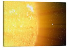 Canvas print  The relative sizes of the Sun and the Earth