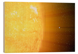 Wood print  The relative sizes of the Sun and the Earth - Stocktrek Images