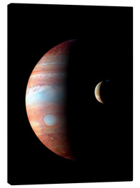 Canvas print  Jupiter and its volcanic moon Lo - Stocktrek Images