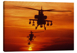 Canvas print  AH-64 Apache anti-tank helicopters - Stocktrek Images