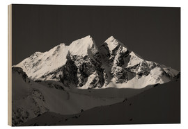 Wood print  Alpine Summit - Walter Quirtmair