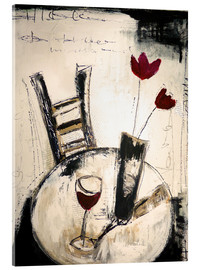 Acrylic print  A glass of wine - Christin Lamade