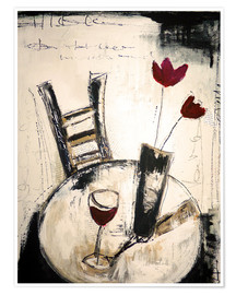 Poster  A glass of wine - Christin Lamade