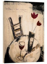 Wood  A glass of wine - Christin Lamade