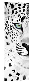 Acrylic glass  The leopard - panorama - Annett Tropschug