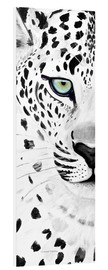Foam board print  The leopard - panorama - Annett Tropschug