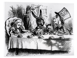 Acrylic print  The Mad Hatter's Tea Party - John Tenniel