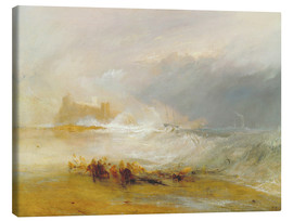 Canvas print  Wreckers - Coast of Northumberland - Joseph Mallord William Turner