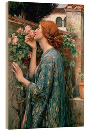 Wood print  The Soul of the Rose - John William Waterhouse