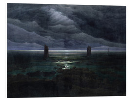 Foam board print  Sea Shore in Moonlight - Caspar David Friedrich