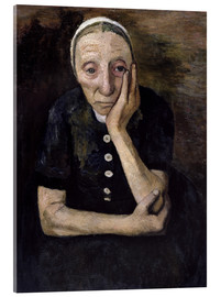 Acrylic print  The old peasant woman - Paula Modersohn-Becker