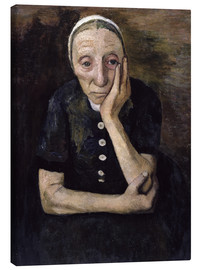 Canvas print  The old peasant woman - Paula Modersohn-Becker
