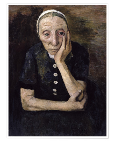 Premium poster The old peasant woman