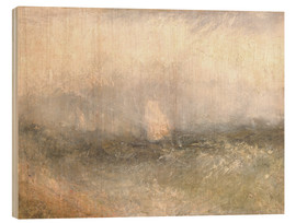 Wood print  Off the Nore: Wind and Water - Joseph Mallord William Turner