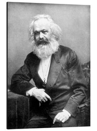 Alu-Dibond  Portrait of Karl Marx - English Photographer
