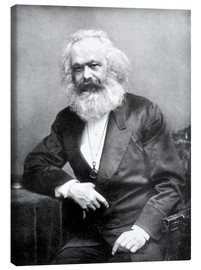 Canvas  Portrait of Karl Marx - English Photographer