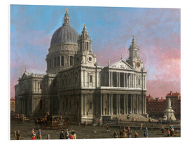 Foam board print  St. Paul's Cathedral - Antonio Canaletto