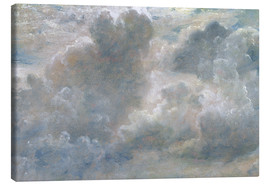 Canvas  Study of cumulus clouds - John Constable