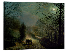 Acrylic glass  Forge Valley - John Atkinson Grimshaw