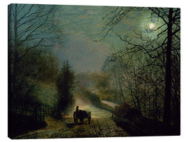 Canvas print  Forge Valley - John Atkinson Grimshaw