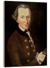 Wood print  Portrait of Emmanuel Kant - German School
