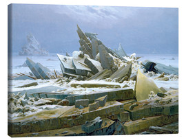 Canvas  The Polar Sea - Caspar David Friedrich