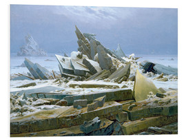 Foam board print  The Polar Sea - Caspar David Friedrich