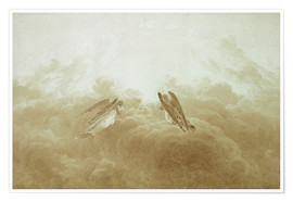 Premium poster  Angel in Prayer - Caspar David Friedrich