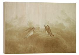 Wood print  Angel in Prayer - Caspar David Friedrich