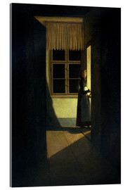 Acrylic print  The Woman with the Candlestick - Caspar David Friedrich