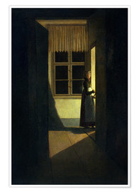 Poster The Woman with the Candlestick
